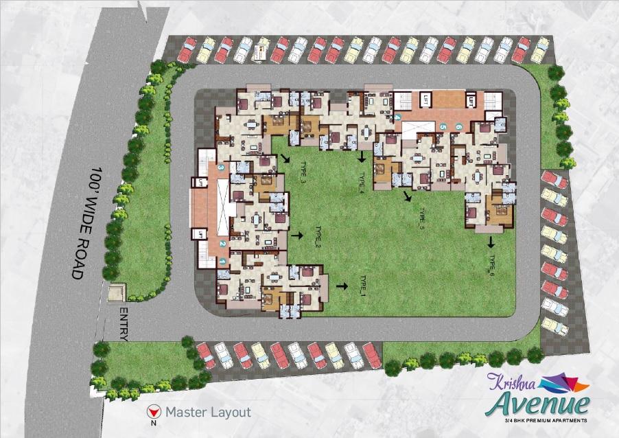 r m krishna avenue project master plan image1