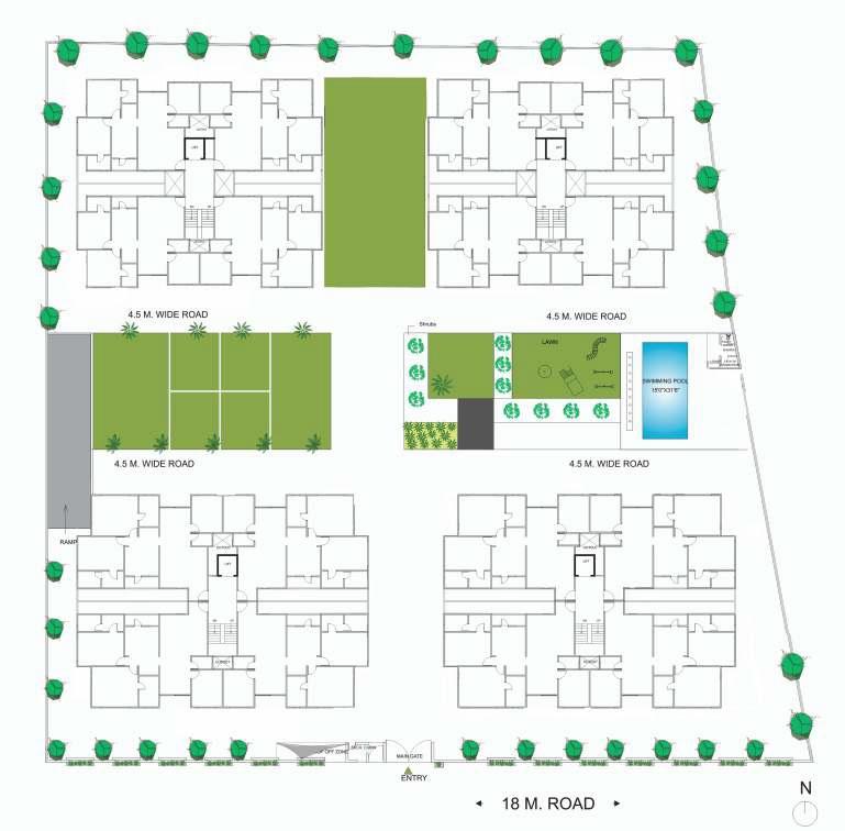sangath terraces project master plan image1