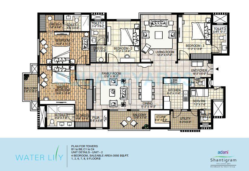 adani shantigram water lily apartment 4bhk 3550sqft1
