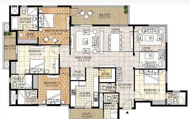 adani shantigram water lily apartment 4bhk 3780sqft 1