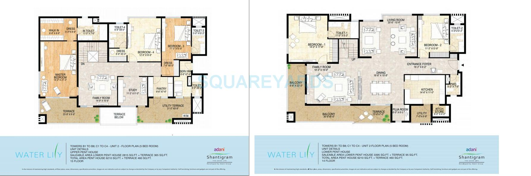 5 Bhk 6120 Sq Ft Penthouse For Sale In Adani Shantigram Water Lily At Rs 3650 Sq Ft Ahmedabad