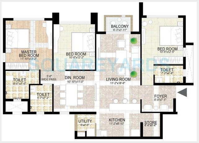 adani the meadows apartment 3bhk 2280sqft1