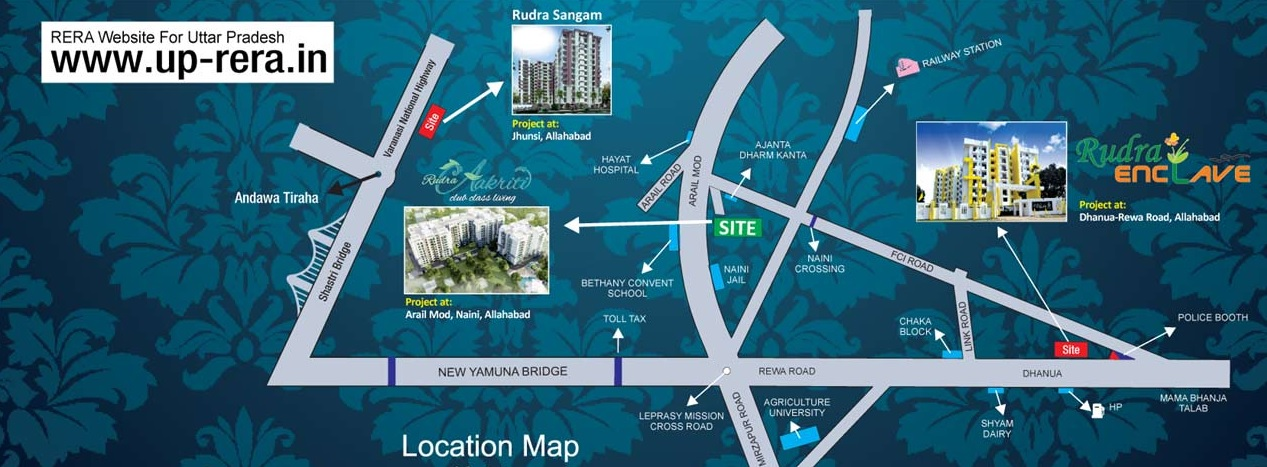 rudra aakriti project location image1