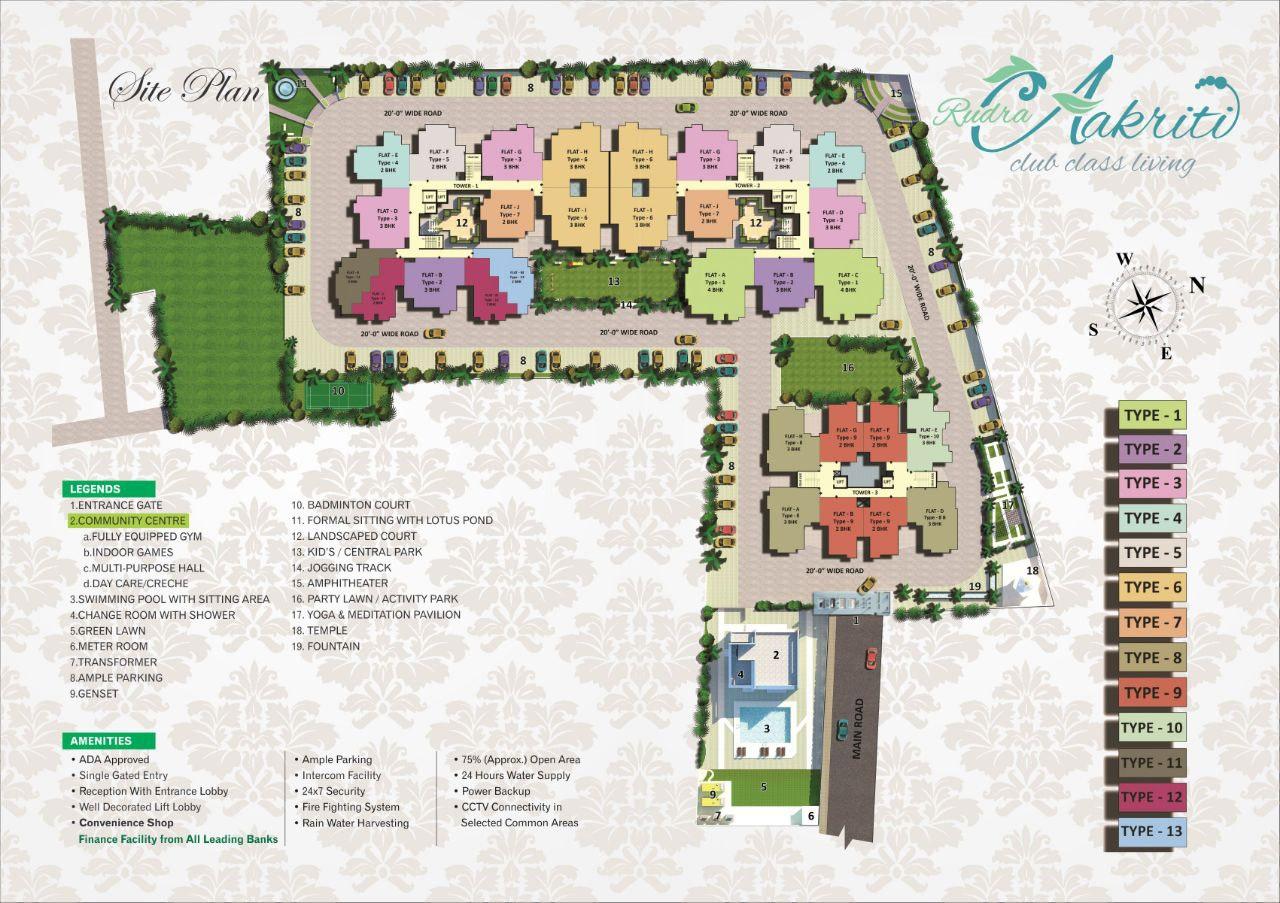 rudra aakriti project master plan image1
