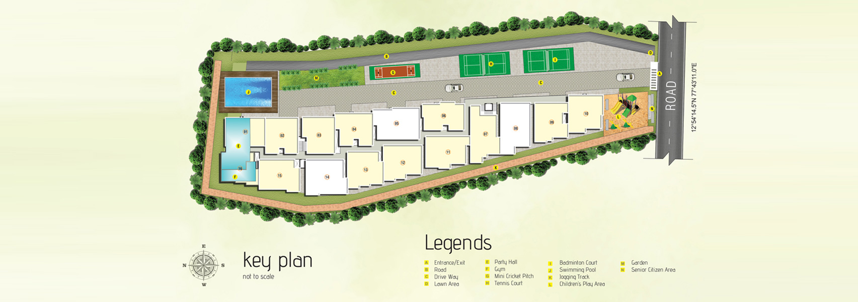abhee nakshatra project master plan image1
