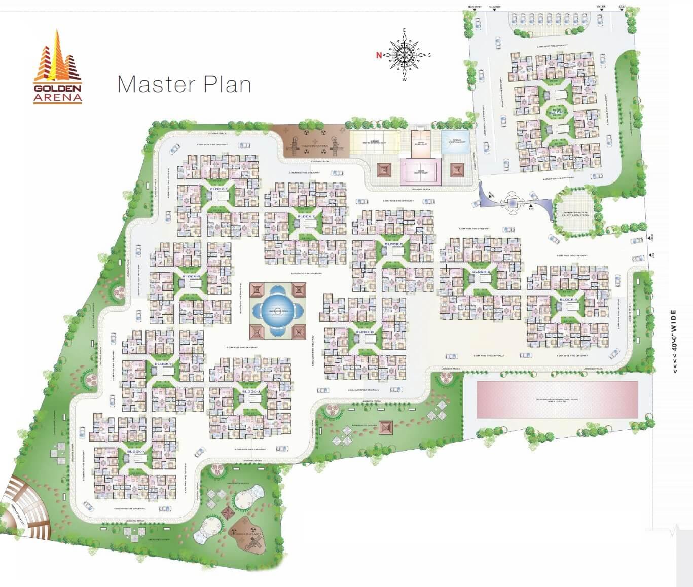 aryan golden arena master plan image1