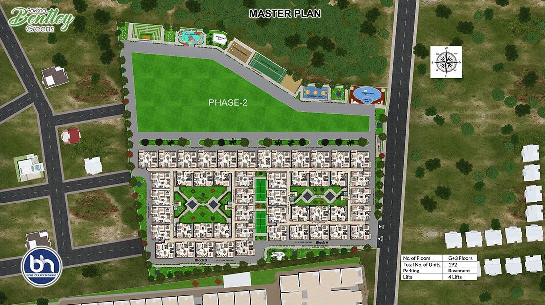 bavisha bentley greens project master plan image1
