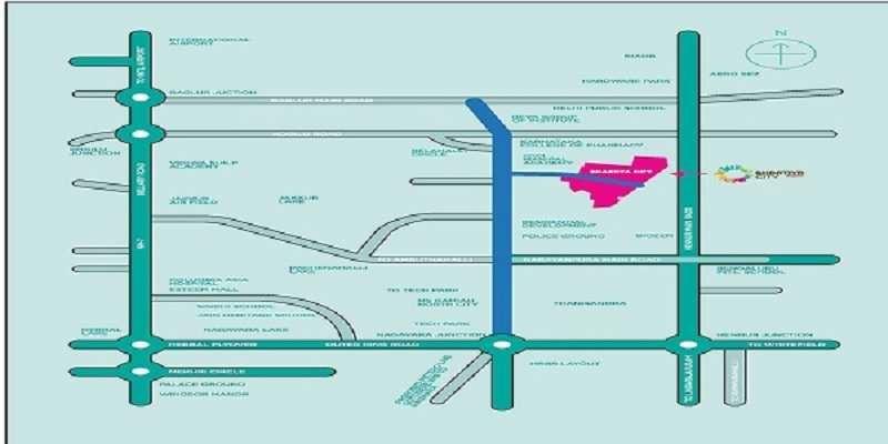 bhartiya leela residences location image5
