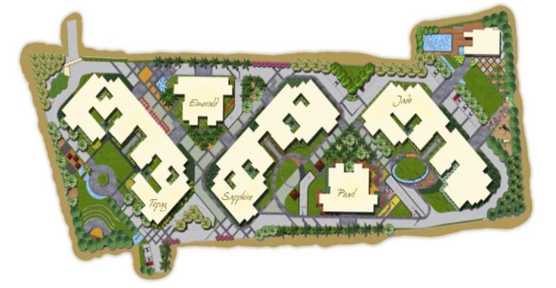 bren luxuria project master plan image1