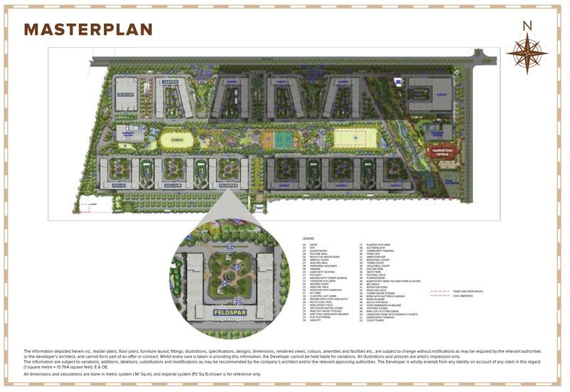 brigade el dorado feldspar  project master plan image1