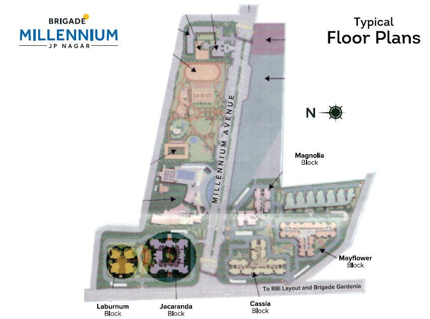 brigade millennium cassia project master plan image1