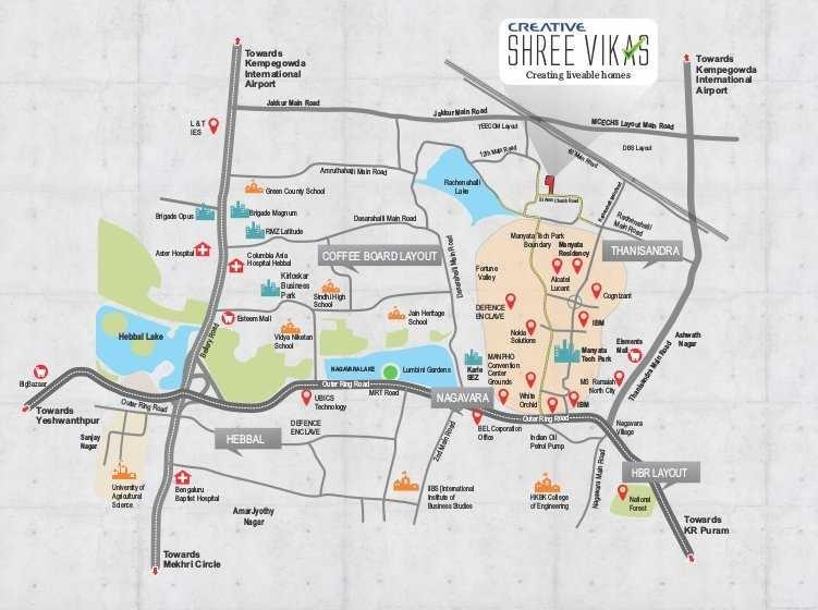 creative shree vikas project location image1