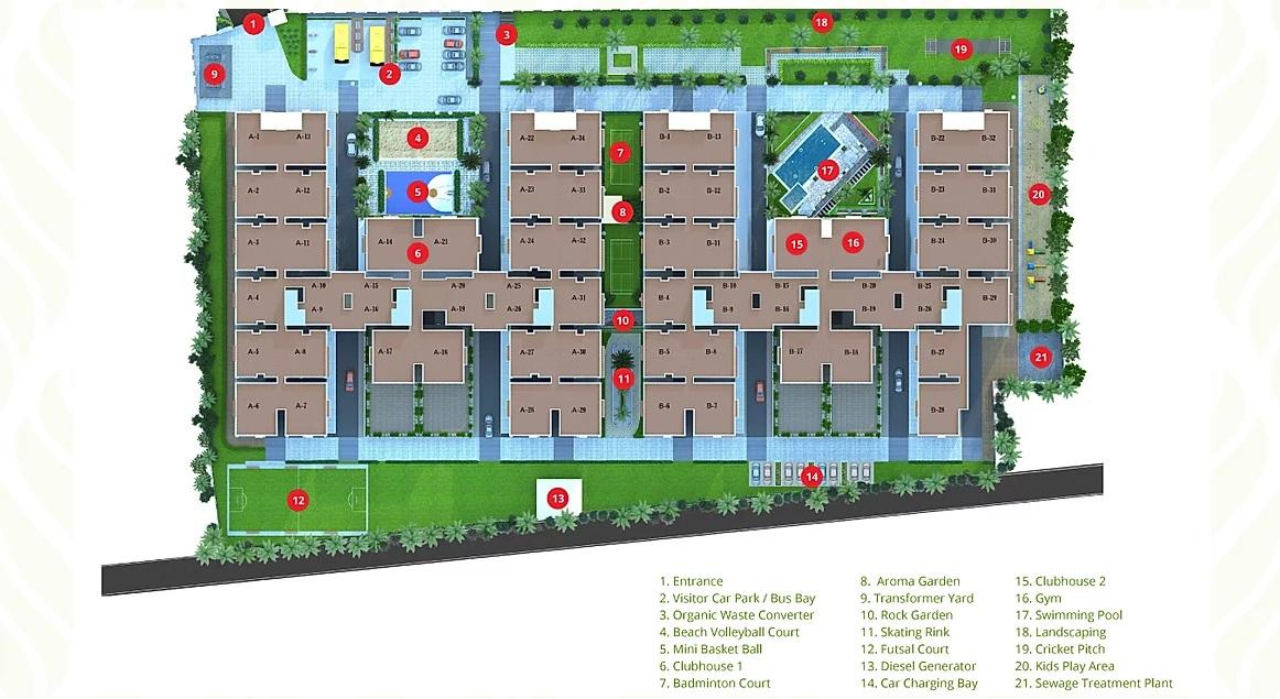 disha courtyard master plan image7