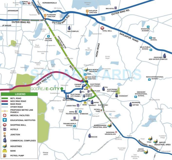 godrej e city location image1