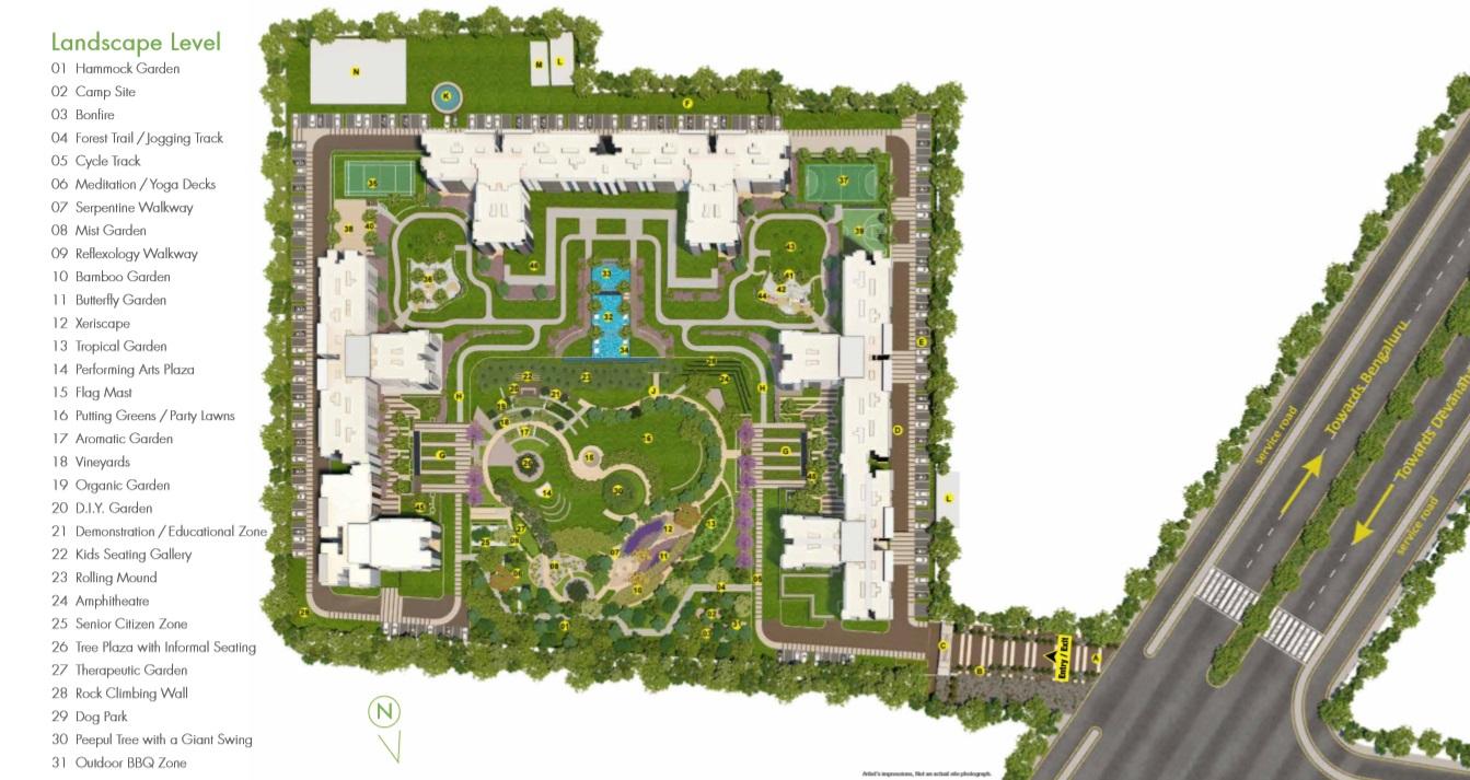 godrej royale woods master plan image18