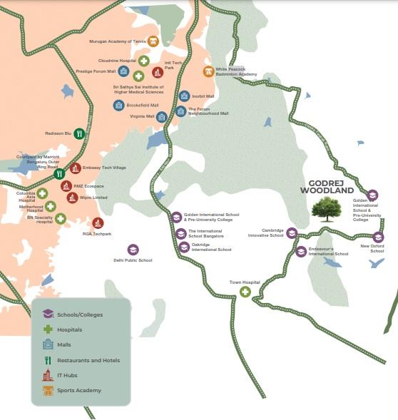 godrej woodland project location image1