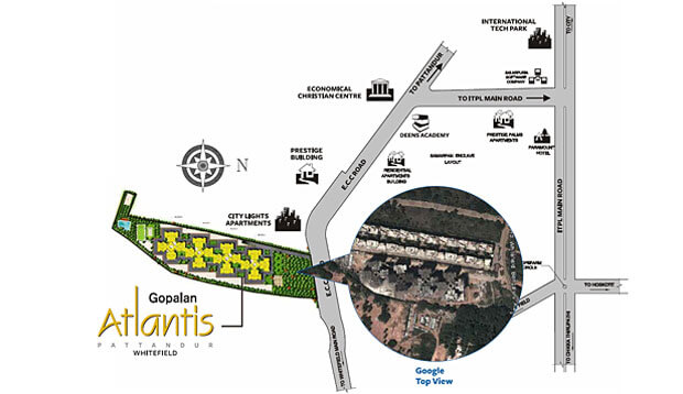 gopalan atlantis location image1