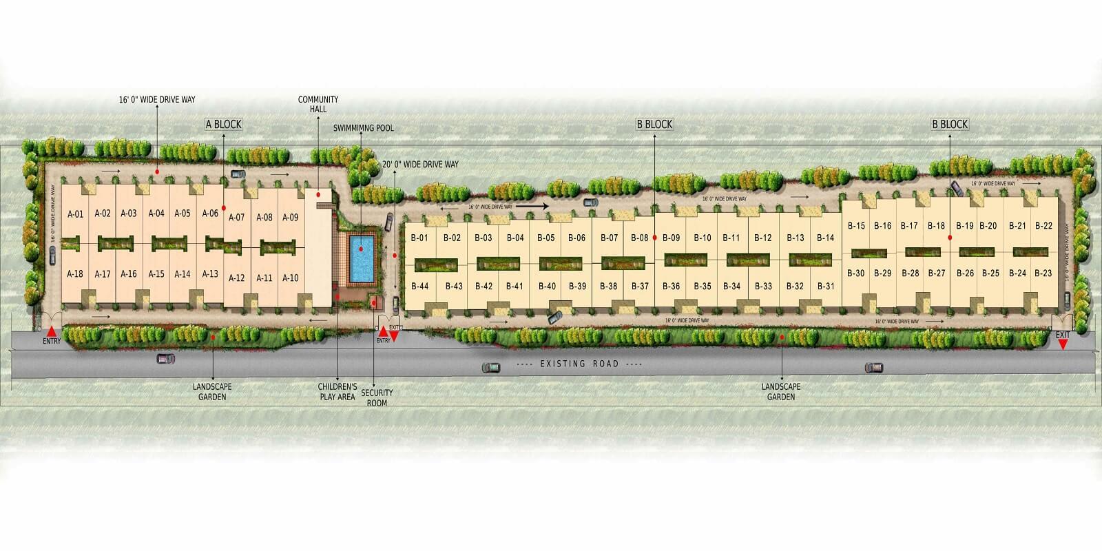 gopalan urban woods master plan image1