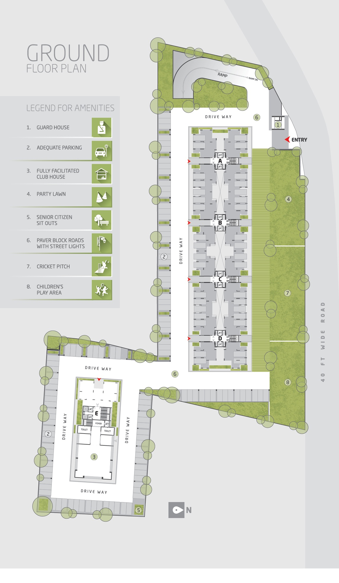 goyal and co orchid greens master plan image1