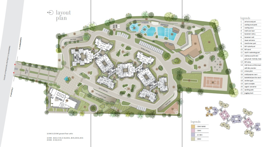 goyal and co orchid whitefield master plan image1