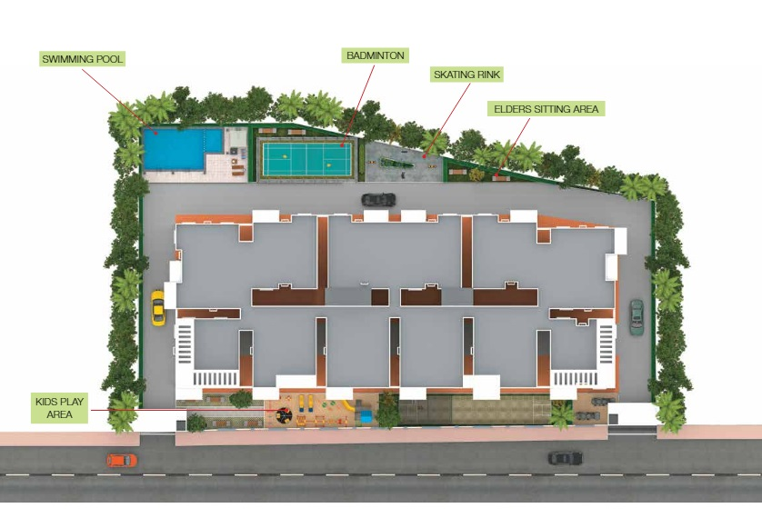 green anees enclave project master plan image1