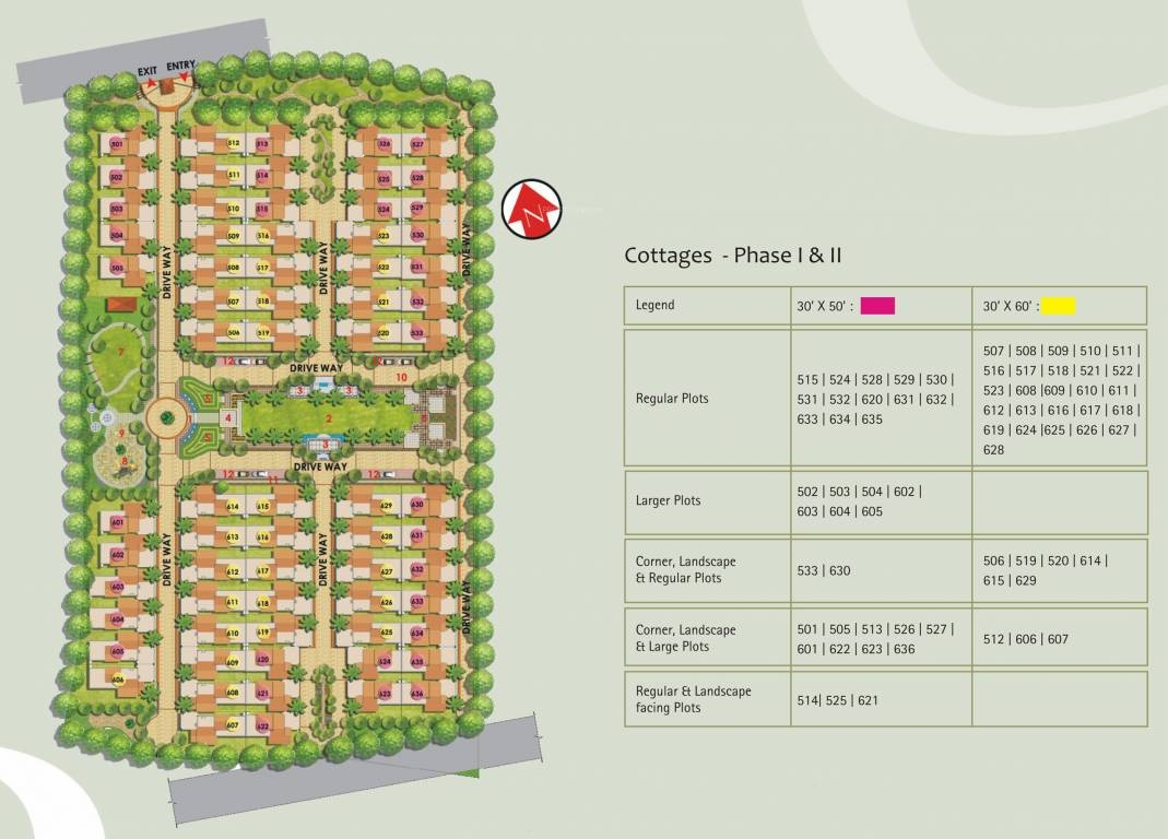 hiranandani cottages project master plan image1