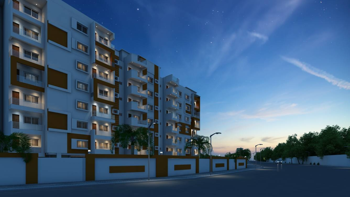 jhanavi capetown heights project tower view2