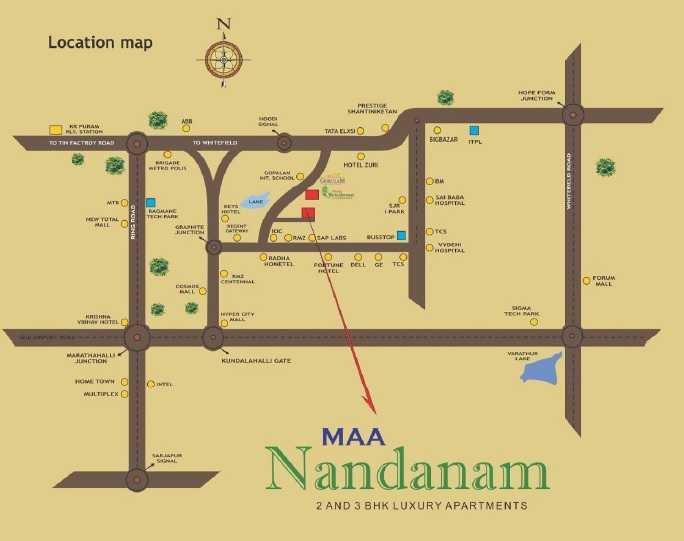 maa nandanam project location image1
