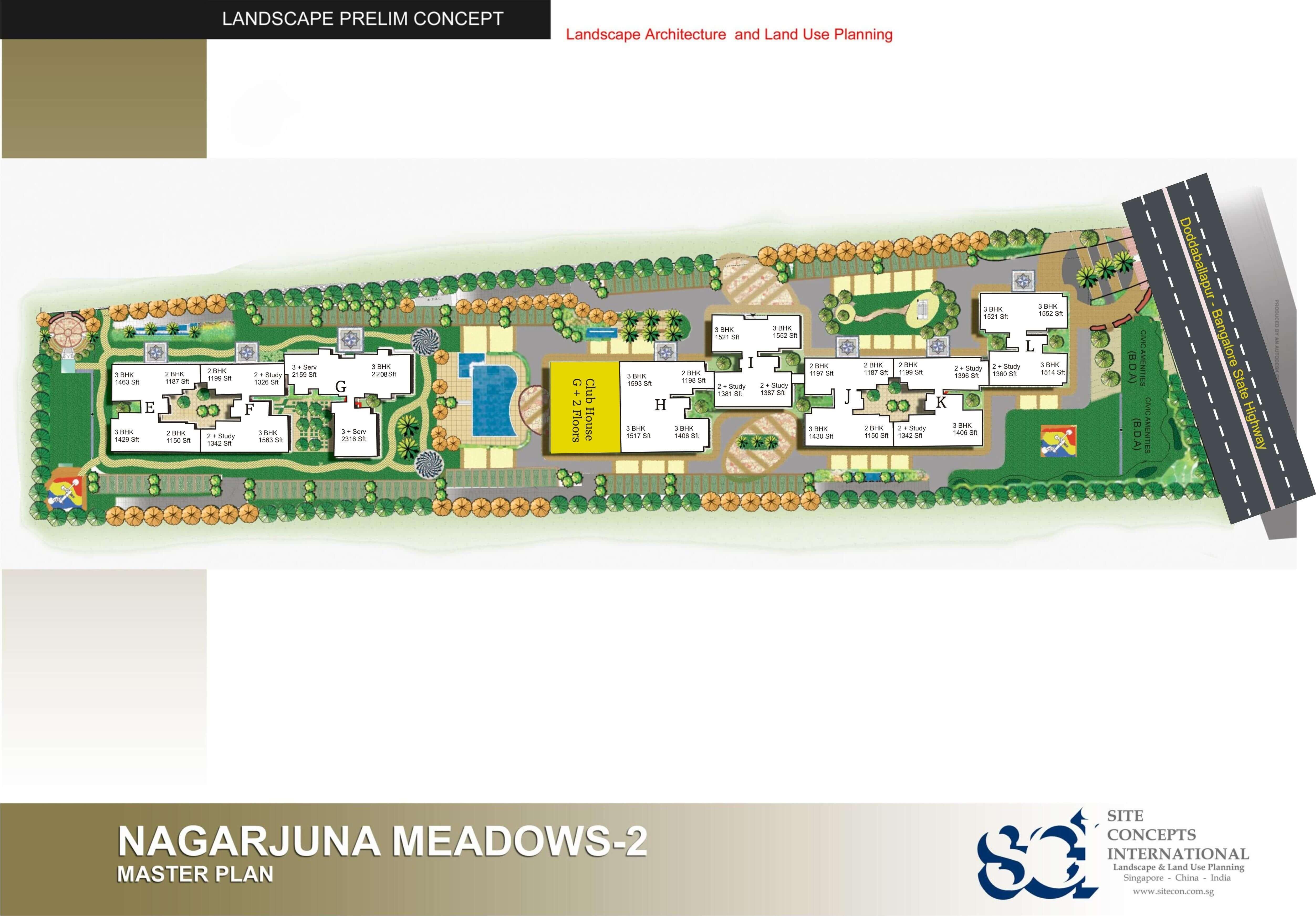 ncc nagarjuna meadows ii master plan image1