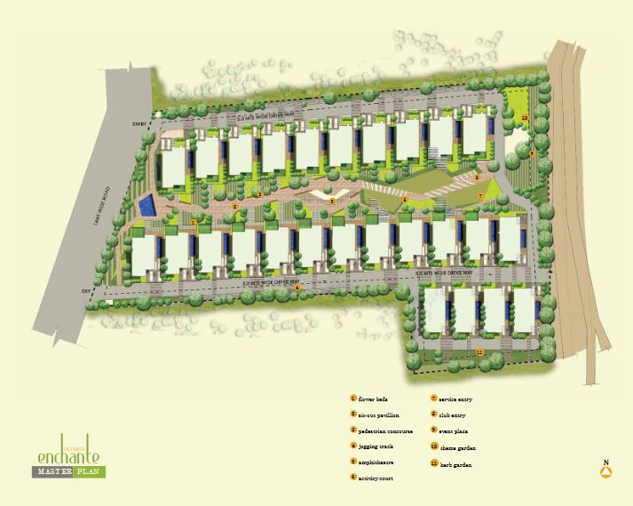 olympia enchante project master plan image1