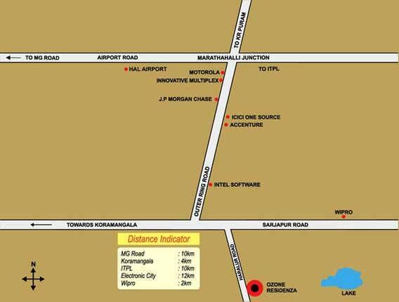 ozone residenza project location image1