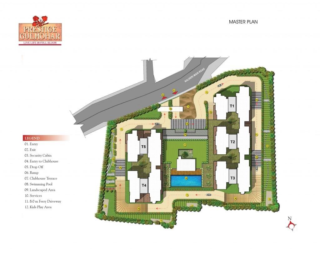prestige gulmohar master plan image2