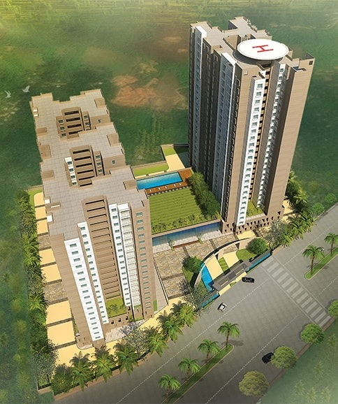 prestige gulmohar tower view9