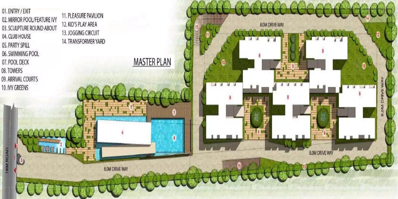 prestige ivy terraces master plan image2
