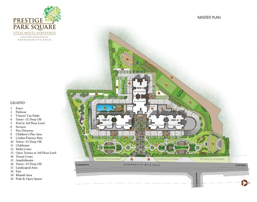 prestige park square master plan image1