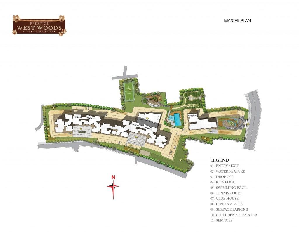 prestige west woods master plan image3