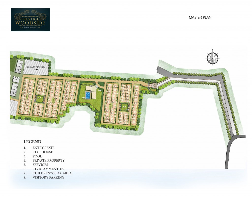 prestige woodside project master plan image1