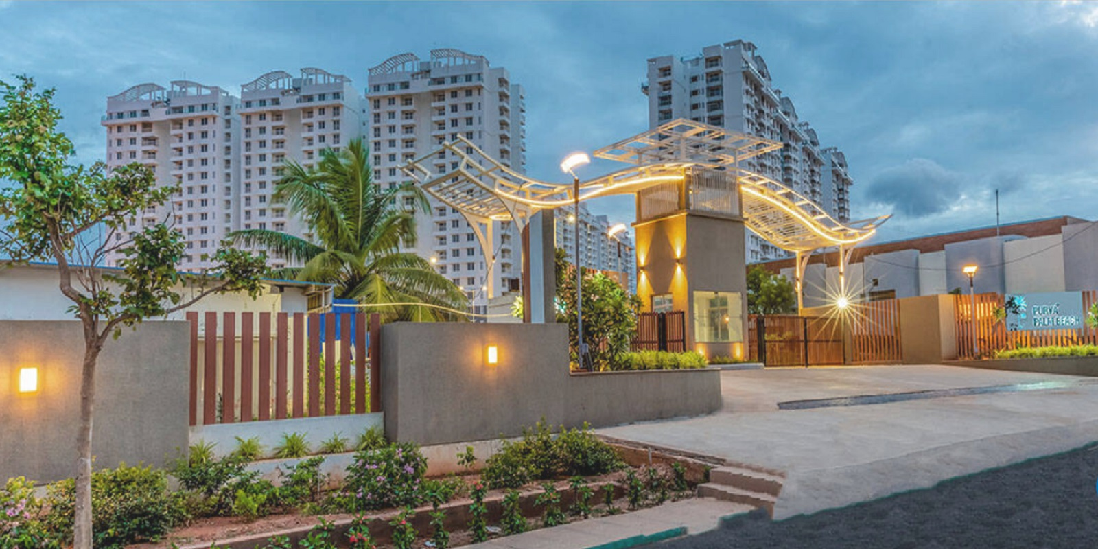 puravankara palm beach entrance view17