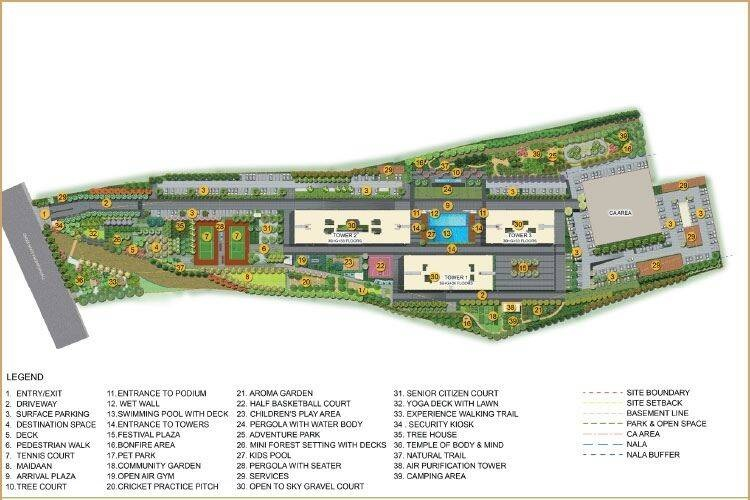 puravankara purva atmosphere project master plan image2