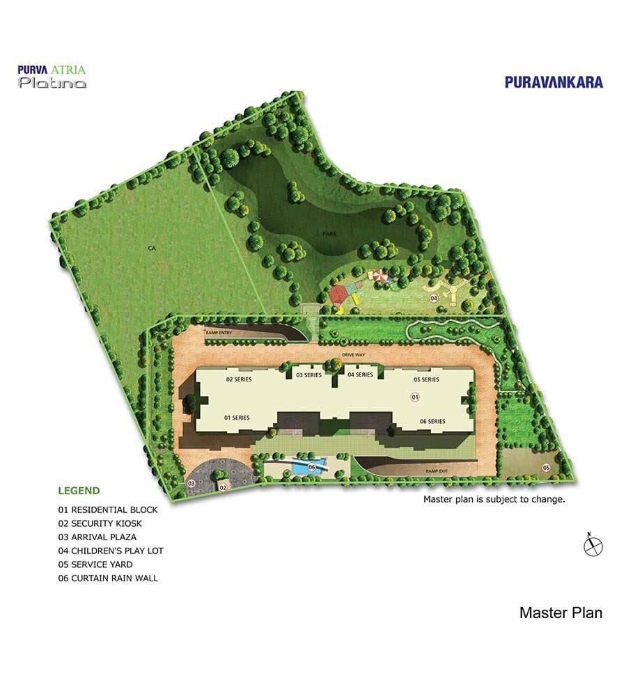 puravankara purva atria platina master plan image3