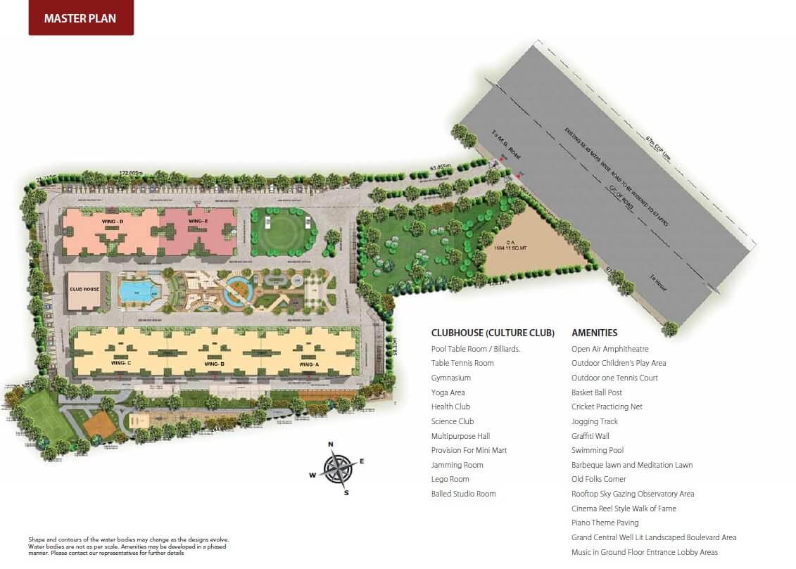 puravankara purva westend master plan image1