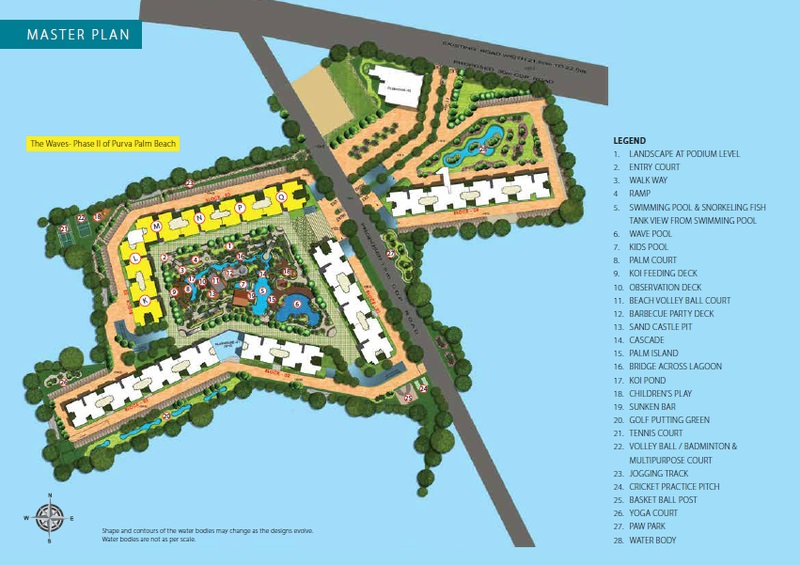 puravankara the waves project master plan image1