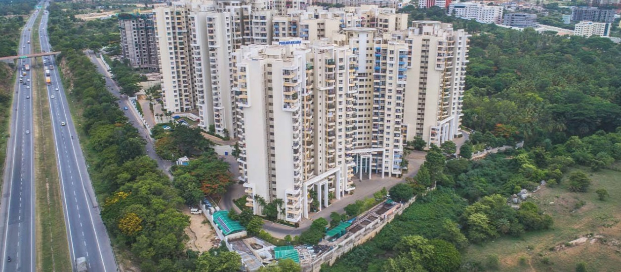 purva highland project tower view1