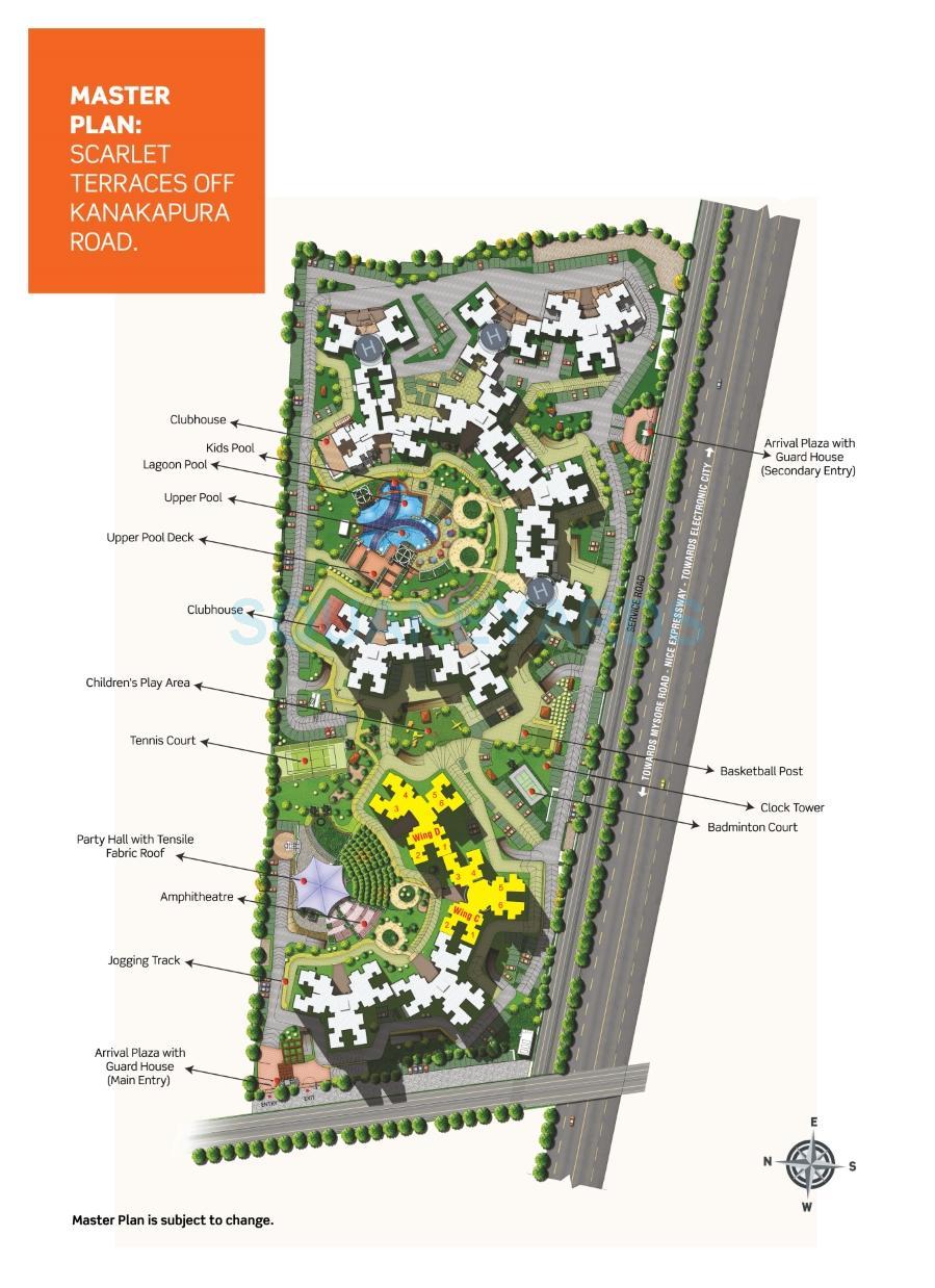 purva scarlet terraces master plan image1