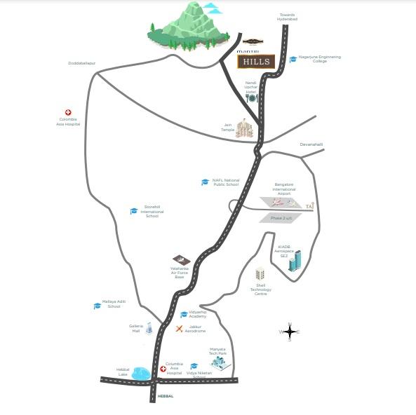 qvc mantri hills  project location image1
