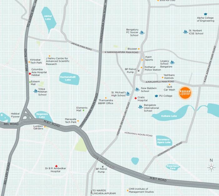 rohan upavan phase v project location image1