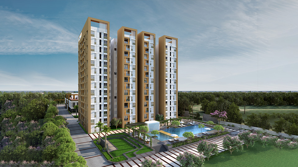 salarpuria sattva exotic project tower view1