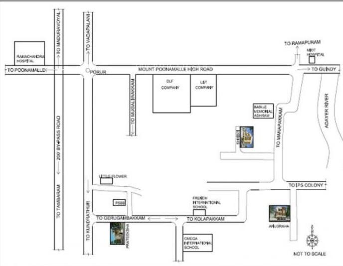 shriram srishti apartments project location image1