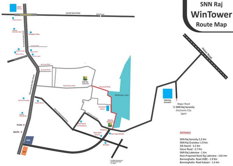 snn raj win tower project location image1