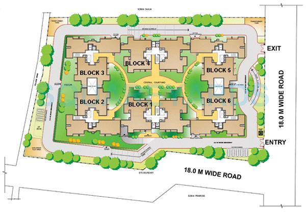 sobha carnation master plan image1